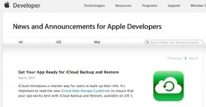 iCloud developeri