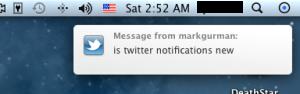 Twitter notifikacia