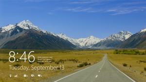 Windows 8 lock screen