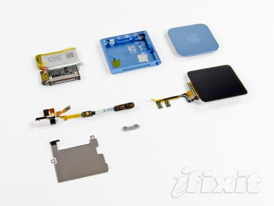 iPod nano rozobrany