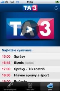 TA3 screen